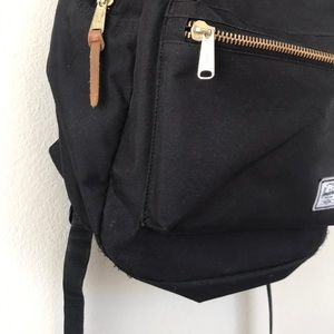 Herschel Supply Company Bags - HERSCHEL black and gold backpack great condition